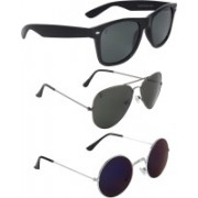 Zyaden Wayfarer, Aviator, Round Sunglasses(Multicolor)