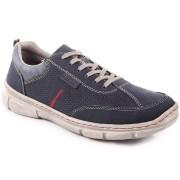 Rieker Półbuty męskie skórzane granatowe Rieker 13711-14
