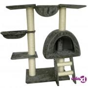 vidaXL Penjalica za Mačke 105 cm Sivi Pliš