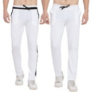 Cliths Stylish Joggers For Men Casual Trackpants for men/ Yoga Pants For Gym- Pack of 2 (White Black)
