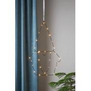 SANTA hängande ljusdekoration LED Svart