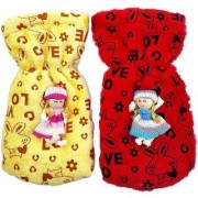 MOM AND SON Kids Fabric Baby Feeding Bottle Covers with Attractive Cartoon 240ml (Yellow Red)