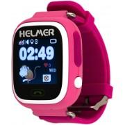 Helmer Chytré dotykové hodinky s GPS lokátorem LK 703 růžové + SIM karta GoMobil s kreditem 50 Kč