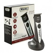Wahl Professional Chromini T-Cut #8549 Cordless Trimmer Great for Barbers and Stylists German-Made Detachable Blades NiMH Quick Recharging Battery 100 Minute Run Time