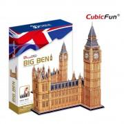 Cubicfun Big Ben si Palatul Parlamentului Anglia Puzzle 3D 117 piese