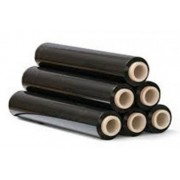 Folie stretch manuala neagra 23 microni 1,3 kg tub 100 gr.
