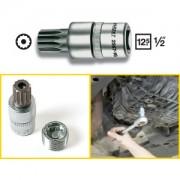 Hazet HAZET Inserto chiave a bussola per giravite per servizio olio 2567-16 . Attacco quadro, cavo, 12,5 mm (1/2 di pollice) . Profilo poligonale interno XZN con perno . M16 mm 2567-16