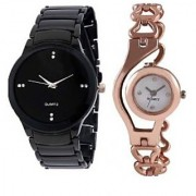 TRUE COLORS NEW SMART CHOICE IIK COLLECTION GO FASHION Analog Watch - For men/women original sold by ( IIK BLACK COPER CHAIN)