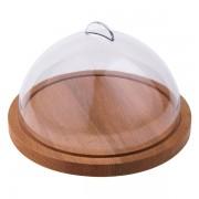 Platou lemn rotund cu capac