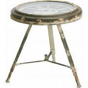 Záhradný stolík CLOCK biela