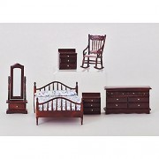 Aztec Imports, Inc. Dollhouse Master Bedroom Set (6 Pieces)