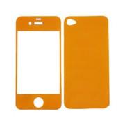 Цветен преден и заден протектор за Apple iPhone 4G/4S Оранжев