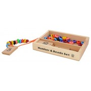 Skillofun Wooden Number and Bead Set, Multi Color