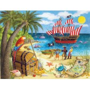 White Mountain Puzzles Pirate Treasure - 100 Piece Jigsaw Puzzle