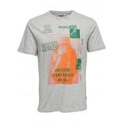 ONLY&SONS Tricou pentru bărbați Fabio SS Tee Light Grey Melange S