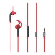 EY Pst-01 Feiyi Inteligente Sistema Dual Del Auricular Estéreo De Auriculares Intrauditivos-Rojo