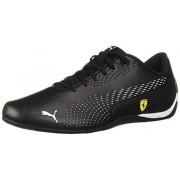PUMA Ferrari Drift Cat 5 Ultra Zapatillas de Deporte, Negro/Blanco, 6 US