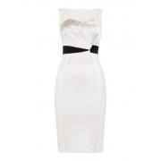 Karen Millen Strakke jurk Tuxedo met broderie accenten