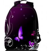 Sleevy laptop rugzak 15,6 Deluxe paarse vlindertjes