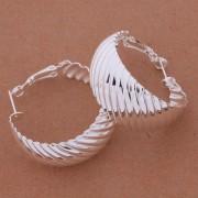 Cercei eleganti ondulati placati argint