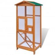 vidaXL Голяма дървена къщичка за птици с две вратички