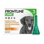 Combo spot on para cães dos 2 aos 10kg 3pipetas - Frontline