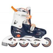 Nijdam justerbara inlines för barn blå/vit/orange
