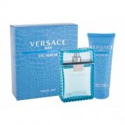 Versace Man Eau Fraiche set cadou apa de toaleta 100 ml + gel de dus 100 ml pentru bărbați