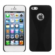 Protector Iphone 5 Negro con Franja Negra