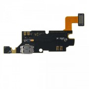 Flex com conector de acessórios / carga / dados micro USB e microfone para Samsung Galaxy Note i9220 N7000