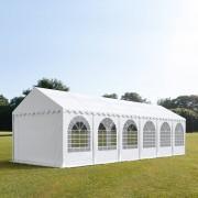 TOOLPORT Partytent 4x12m PVC 550 g/m² wit waterdicht Gartenzelt, Festzelt, Pavillon