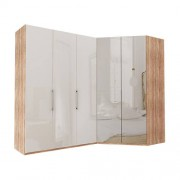 Garderob Atlanta - Ljus rustik ek 150 cm, 216 cm, Walk-in