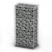 vidaXL Gabion Basket with Lids Galvanised Wire 100 x 50 x 30 cm