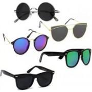 SRPM Wayfarer, Cat-eye, Round Sunglasses(Black, Blue, Green)