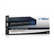 SWITCH, TRENDnet TEG-424WS, 24-port 10/100, Web Smart Switch w/ 4 Gigabit Ports and 2 Mini-GBIC Slots