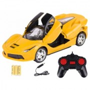 DY Yellow 116 Remote Control Super Car With Opening Doors