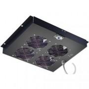 Intellinet Gruppo di ventilazione a soffitto per Rack 19'' 4 Ventole Nero