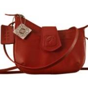 eZeeBags Women Red Genuine Leather Sling Bag