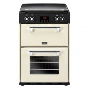 Stoves 600Ei Cream Induction Electric Cooker with Double Oven - Black