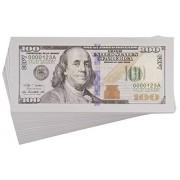 Paper Playing Money - $100 One Hundred Dollar Bills Pretend Play Money Set