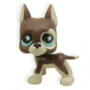 Littlest Pet Shop Great Dane Dog Puppy Brown Chocolate STAR Blue Eyes LPS #817 /item# R6SG5EB-48Q4189