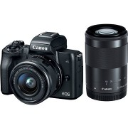 Canon EOS M50 fekete + EF-M 15-45 mm IS STM + EF-M 55-200 mm
