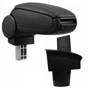 Подлакътник [pro.tec]® VW Passat B6 3C с контейнер за съхранение, Изкуствена кожа/Черен