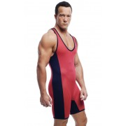 Go Softwear A J Action Mesh Singlet Bodysuit Red/Navy 8528