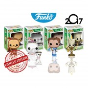 Set 4 Piezas Bella, Din Don, Lumiere Y Sra. Potts Funko Pop La Bella Y La Bestia Pelicula