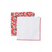 Nordstrom Rack Foxtail Floral Pocket Squares - Set of 2 RED