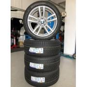 ROATA IARNA R18 BMW SERIA 5 ,TYP F10,F11 JANTA RIAL+ ANVELOPA IARNA MICHELIN + SENZOR HUF