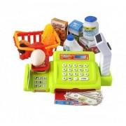 Set casa de marcat cu afisaj LCD, Scanner, Cantar, Cos Cumparaturi si alte accesorii pentru copii