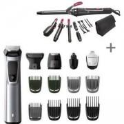 Тример за лице, коса и тяло Philips MG7720/15 + Маша за коса Rowenta 14 Аксесоара, CF4132D0