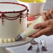 Kudos CAKE PESTRY DECORATOR CREAM WITH 6 ICEING NOZZLES KIT